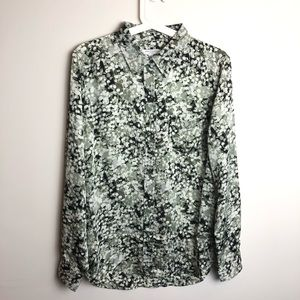 Equipment pocket long sleeve new blouse Large